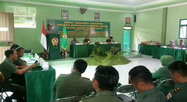 RAT Koperasi di Makodim Pamekasan, Madura, Jawa Timur.
