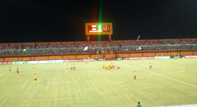 Madura United Vs Semen Padang di Stadion Gelora Ratu Pamelingan, Pamekasan, Madura, Rabu (8/2/2017).